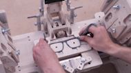 UK designer creates sunglasses from waste denim with custom assembly tool