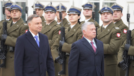 Poland's president discusses security with King of Jordan
