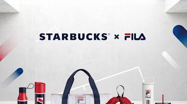 重磅聯名!星巴克x FILA 聯名推出12款「紅白藍」運動風格周邊商品,馬克杯、側背包必收!加碼只送不賣可收納吸管