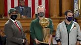 Bucks receive proclamations from the city of Milwaukee