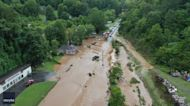 Drone Footage Shows Widespread Flooding in Canton Following Tropical Depression Fred