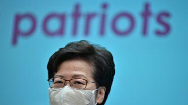 Hong Kong leader praises China's plan to install 'patriots'