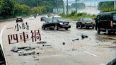 交通意外 吐露港公路一小時四車禍 涉11車現場塞爆