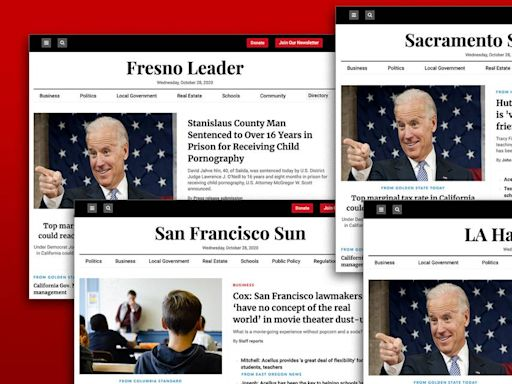 They look like ordinary California news websites. Their backers: Conservative operatives