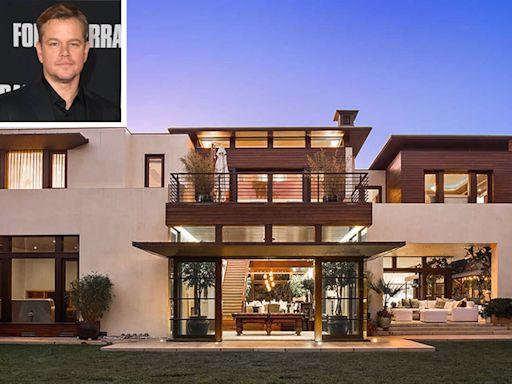 Matt Damon Is Selling His Luxurious $21 Million Los Angeles Home — See Inside!