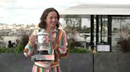 French Open champ Swiatek sticks to water during celebrations