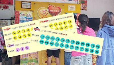 9/25 今彩539、雙贏彩 頭獎均摃龜!