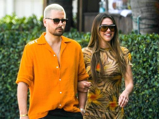 Scott Disick and Amelia Hamlin Step Out During Miami Vacation in Color-Coordinated Outfits