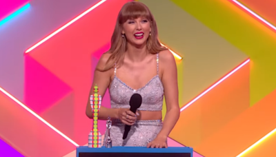 Taylor Swift Gives Joe Alwyn a Sweet Shout-Out During Historic Global Icon Award Speech at BRIT Awards