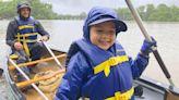 Picking up trash + boating = 'ploating'?