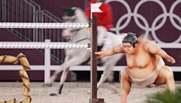 Sumo Wrestler Statue Spooks Horses In Olympics Equestrian Event, Riders Say