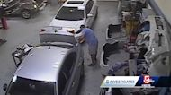 Video shows Massachusetts collision mechanic taking hammers to vehicles