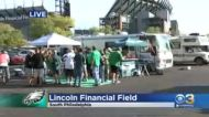 Eagles Fans Tailgate Before Game Against Tampa Bay Buccaneers