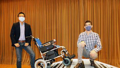 嶺大研輪椅把手感應系統 減輕照顧者負擔