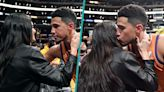 Kendall Jenner & Devin Booker Share Kiss In Rare PDA To Celebrate His NBA Win   Access