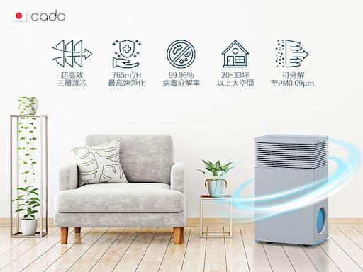 業界最頂規、極致美型cado空氣清淨機 防疫首選安心森呼吸