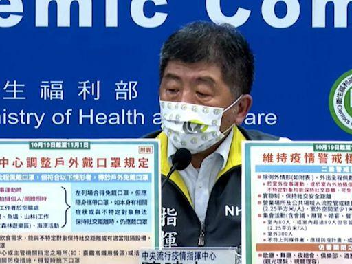 二級再延2週至11月1日 戶外運動、拍照脫口罩解禁