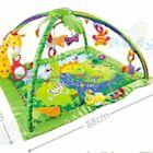 嬰兒音樂遊戲爬行墊 寶寶運動架兒童健身墊 動物超豪華W百貨80