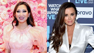 Kyle Richards & Tiffany Moon Have the Chicest Double-Bow Crystal Heels