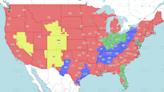 NFL Week 7 TV coverage maps