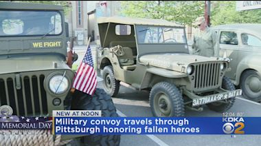 Military Convoy Travels Through Pittsburgh Honoring Fallen Heroes