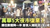 萬華5大夜市復業!攤位數降載一半 首夜人潮回流1至2成 - 自由電子報影音頻道
