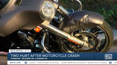 Two hurt after motorcycle crash in Chandler