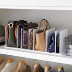 日本【YAMAZAKI】smart包包立式收納架(白)2入組★日本百年品牌★多功能儲物架/臥室收納/衣櫥收納