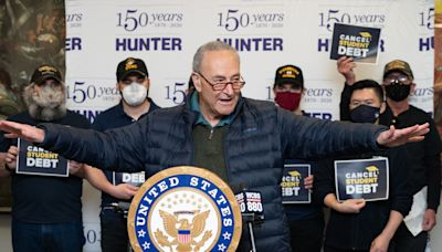 'That debt is just up to people's necks': Schumer wants Biden to forgive $50K/person in student loans