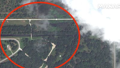 Satellite images show the area where authorities found apparent human remains near Brian Laundrie's belongings
