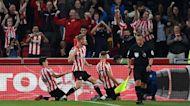 Janelt heads home Brentford equalizer v. Liverpool