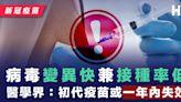【新冠疫苗】病毒變異快兼接種率低 醫學界:初代疫苗或一年內失效
