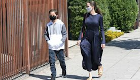 Angelina Jolie & Lookalike Son Knox Head Out Shopping 1 Day Before He & Twin Vivienne's 12th Birthday