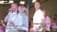Watch Adam Levine React to Fan Crashing the Stage During Maroon 5 Concert