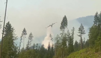 Skimmer Planes Spray Water Over Wildfires in British Columbia