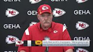 Andy Reid discusses fixing turnovers after win vs. Washington