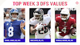 NFL DFS Picks Week 3: Best sleepers, value players for DraftKings, FanDuel daily fantasy football lineups