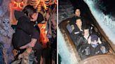Kourtney Kardashian kisses Travis Barker & wears baggy jacket on water ride