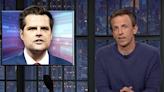 Jimmy Kimmel and Seth Meyers mirthfully audit Matt Gaetz's Venmo receipts