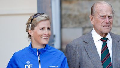 """Sophie, Countess of Wessex, Says Prince Philip's Death Left a """"Giant-Sized Hole"""" In Her Life"""