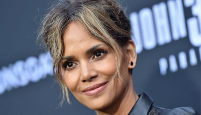 Halle Berry Is Wilder Than Ever in a 'Catwoman'-Chic Bodysuit & Leopard Thigh-High Boots