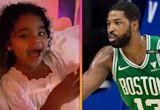 Khloe Kardashian's Daughter True Has Epic Reaction Seeing Dad Tristan Thompson During Celtics Game