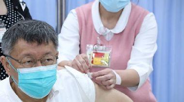 「一直拖不如先打」 柯文哲接種AZ疫苗:針具換成1cc比較不痛