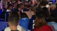 Tampa Bay Lightning fans celebrate Stanley Cup win