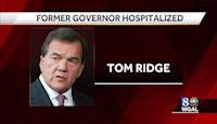 Former Pennsylvania Gov. Tom Ridge hospitalized after stroke