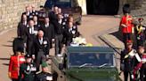 菲臘親王出殯 英女王與子女孫兒送行