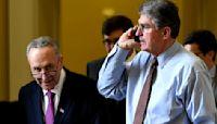 President Biden hosts Manchin and Schumer in Delaware to discuss spending bill