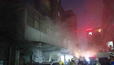 萬華茶葉倉庫清晨遇火警 上百箱普洱茶磚恐報銷損失難以估算