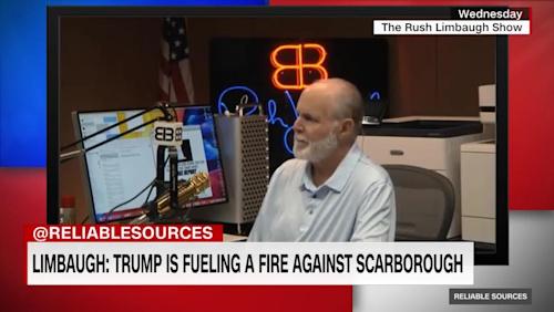 Limbaugh: Trump was fanning 'flames' by smearing Scarborough - CNN Video