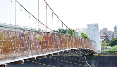 中市烏日吊橋防護網整片鏽蝕 民眾憂安全疑慮